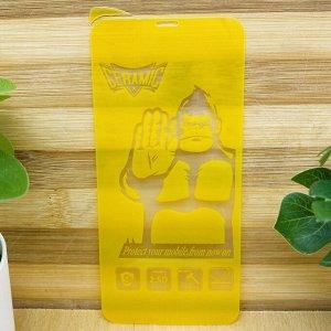 """Керамическое """"стекло"""" (пленка) """"King-Kong"""" для Iphone 11 /XR FULL GLUE в техпаке (на полный экран, полный клей, салфетки в комплекте)"""