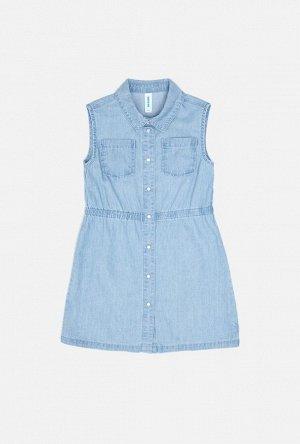 Платье джинсовое детское для девочек Orisaba голубой