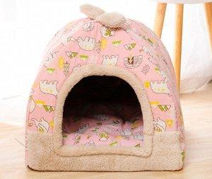 Домик для животных маленький, цвет розовый