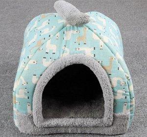 Домик для животных маленький, цвет голубой
