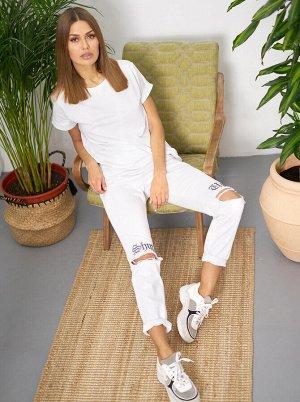 (903-1-coll) брюки джинсовые жен 30р.