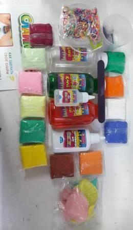 Набор для создания слаймов №15 в пластиковом контейнере/Клей для слаймов прозр.300г -1шт,клей для слаймов цв.300мл. -2шт +стакан пластиковый 1шт+палочка для смешивания 1шт+ супер легкий пластилин 12цв
