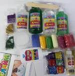 Набор для создания слаймов №22 /Клей для слаймов прозр.300мл-1шт+125мл-1шт+клей для слаймов цв.300мл. -1шт +125мл -1шт+стакан пластиковый -1шт+палочка для смешивания -1шт+цветные резиночки 300шт-1 наб