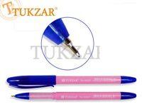 Ручка масляная, 1,0 mm, цвет чернил синий, РОЗОВЫЙ корпус,синий колп. Производство - Россия.