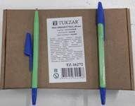 Ручка масляная, 1,0 mm, цвет чернил синий, САЛАТОВЫЙ корпус, синий колп. Производство - Россия.