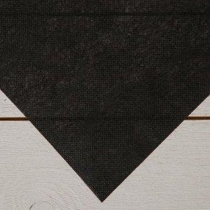 Материал для ландшафтных работ, 1,6 ? 12 м, плотность 80 г/м?, чёрный