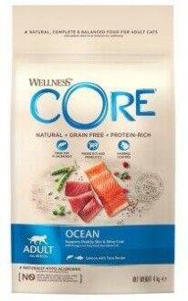 CORE корм из лосося с тунцом для взрослых кошек 4 кг