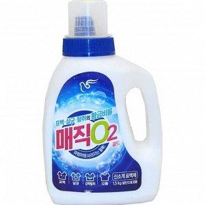 """Кислородный отбеливатель (порошковый) """"Magic O2 Gold"""" (бутылка с мерным стаканом)  1,5 кг / 8"""