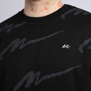 """свитшот Черный (м) Мужской свитшот (термо """"AC"""" + на рукаве """"Argoclassic wear""""). Материал: Футер без начеса (интерлок) - это плотное трикотажное полотно. Материал устойчив к появлению катышков"""