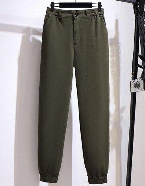 Женские брюки джоггеры, цвет зеленый