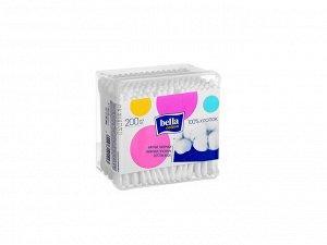 Палочки ватные Bella в пластиковой квадратной упаковке 200 шт