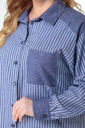 Костюм Костюм ANELLI 996 джинсовые тона  Состав: Хлопок-100%; Сезон: Весна Рост: 164  Комплект состоит из удлинённой блузы и брюк. Выполнен из хлопка высокого качества в компаньоне полоска и однотон.