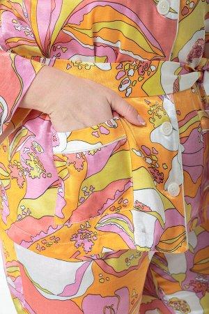 Костюм Костюм ANELLI 870 лиловые тона  Состав: Вискоза-20%; ПЭ-76%; Спандекс-4%; Сезон: Весна-Лето Рост: 164  Модные показы 2020 утвердили тренд пижамный стиль в моде продемонстрировало большинство д