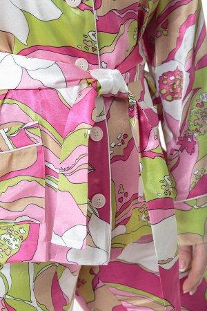 Костюм Костюм ANELLI 870 розовые тона  Состав: Вискоза-20%; ПЭ-76%; Спандекс-4%; Сезон: Весна-Лето Рост: 164  Модные показы 2020 утвердили тренд пижамный стиль в моде продемонстрировало большинство д