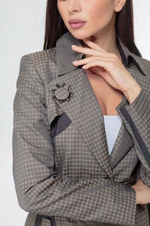 Плащ Плащ ANELLI 5-051 зелени  Состав: ПЭ-100%; Сезон: Осень-Зима Рост: 164  Плащ женский полуприлегающего силуэта со съемным поясом, рабочими карманами, на подкладке.Повседневная модель на весенние