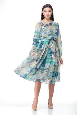 Платье Платье Bonna Image 560з-Р  Состав: ПЭ-100%; Сезон: Весна-Лето Рост: 164  Элегантное женское платье, выполнено из шифоновой ткани.Платье отрезное по линии талии. Горловина круглая, по центру го