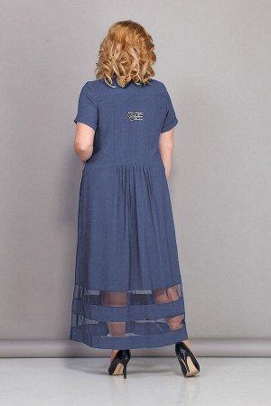 Платье Платье Bonna Image 439 джинс  Состав: Вискоза-88%; ПЭ-12%; Сезон: Лето Рост: 164  Стильное женское платье, в спортивном стиле, полуприлегающего силуэта. Платье отрезное по линии талии, централ