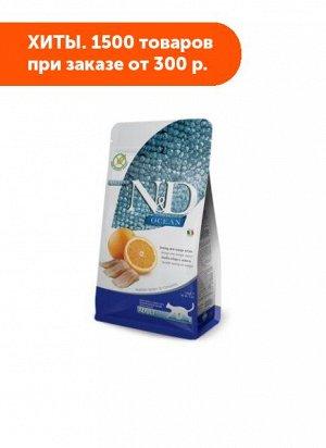 Farmina N&D Cat Ocean Grain Free Adult сухой беззерновой корм для кошек Рыба/Апельсин 300гр