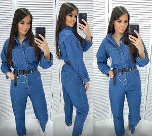 Комбинезон Ткань джинса  На ширинке небольшая дырочка