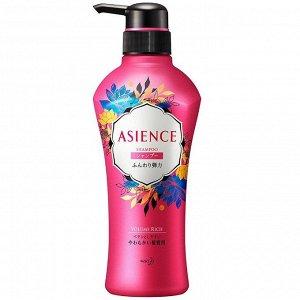 """326225 КAO """"Asience"""" Шампунь для увеличения упругости волос с экстрактом женьшеня и протеинами цветочно-фруктовый аромат диспенсер 450 мл"""