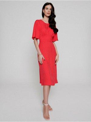 Платье-миди из вискозы премиального качества с открытой спиной LPL 1142