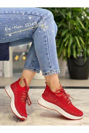 Женские кроссовки 5043-4 красные (бордовые)