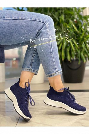 Женские кроссовки 5041-2 темно-синие