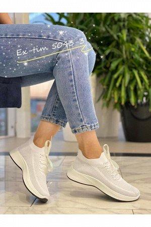 Женские кроссовки 5043-3 белые