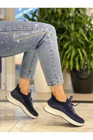 Женские кроссовки 5043-2 темно-синие