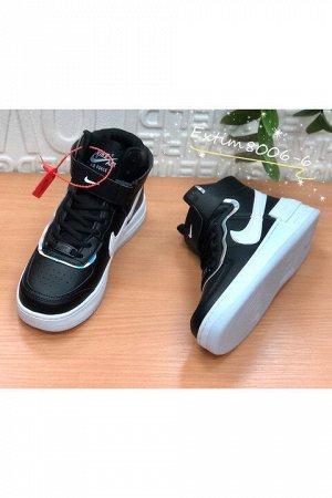 Женские кроссовки 8006-6 черно-белые