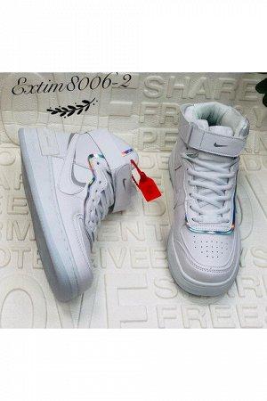 Женские кроссовки 8006-2 белые