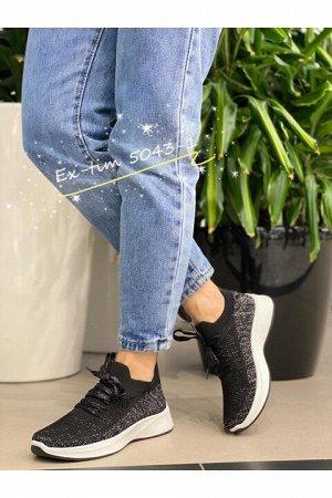 Женские кроссовки 5043-1 черные