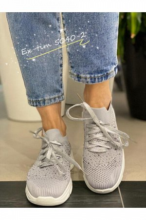Женские кроссовки 5040-2 серые
