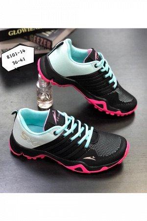 Женские кроссовки 8101-14 черные