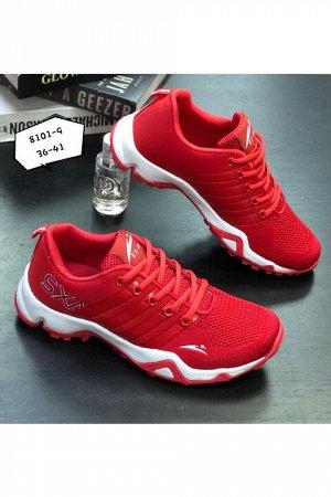 Женские кроссовки 8101-9 красные