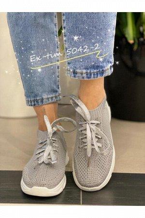 Женские кроссовки 5042-2 серые