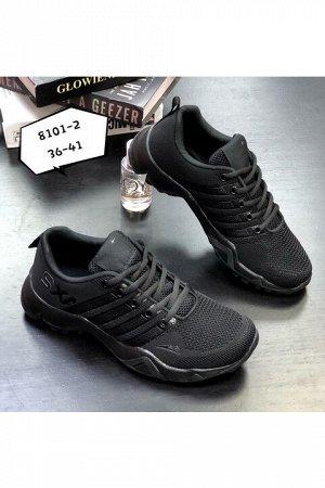 Женские кроссовки 8101-2 черные