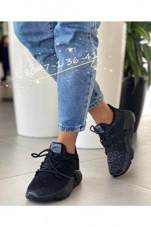 Женские кроссовки 8097-1 черные