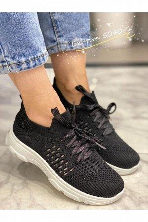 Женские кроссовки 5040-1 черные