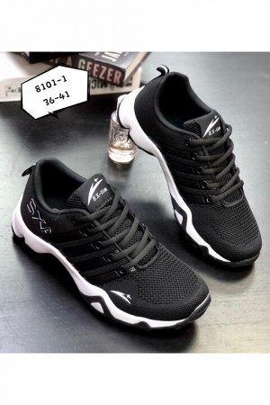Женские кроссовки 8101-1 черные