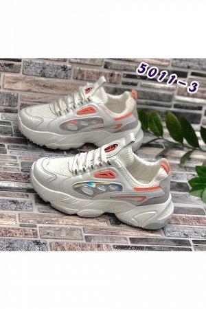 Женские кроссовки 5011-3 белые