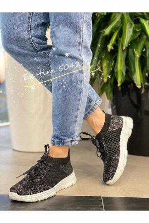 Женские кроссовки 5042-1 черные