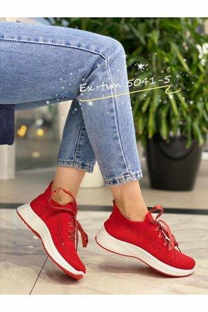 Женские кроссовки 5041-5 красные (бордовые)