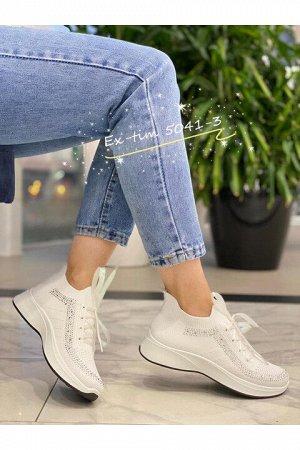 Женские кроссовки 5041-3 белые