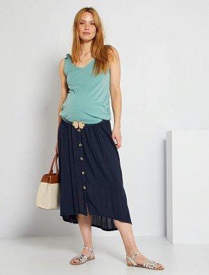 Длинная юбка для будущих мам