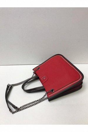 Женская сумка бордовая (красная)