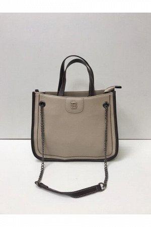 Женская сумка темно-бежевая