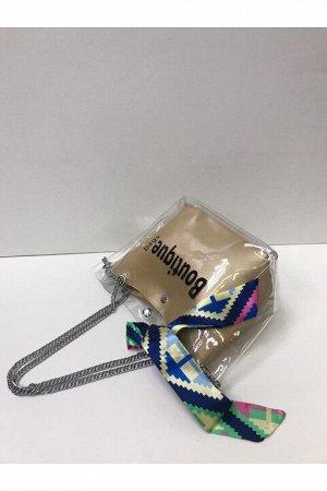 Женская сумка золотистая