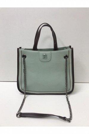 Женская сумка серо-зеленая