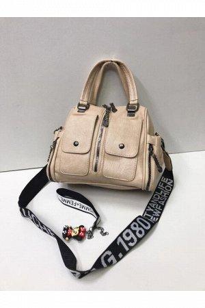 Женская сумка бежвая